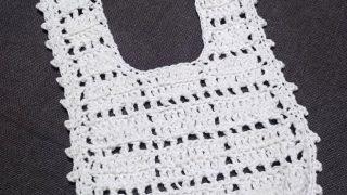 手作りベビーアイテムその2 かぎ編みベビースタイ